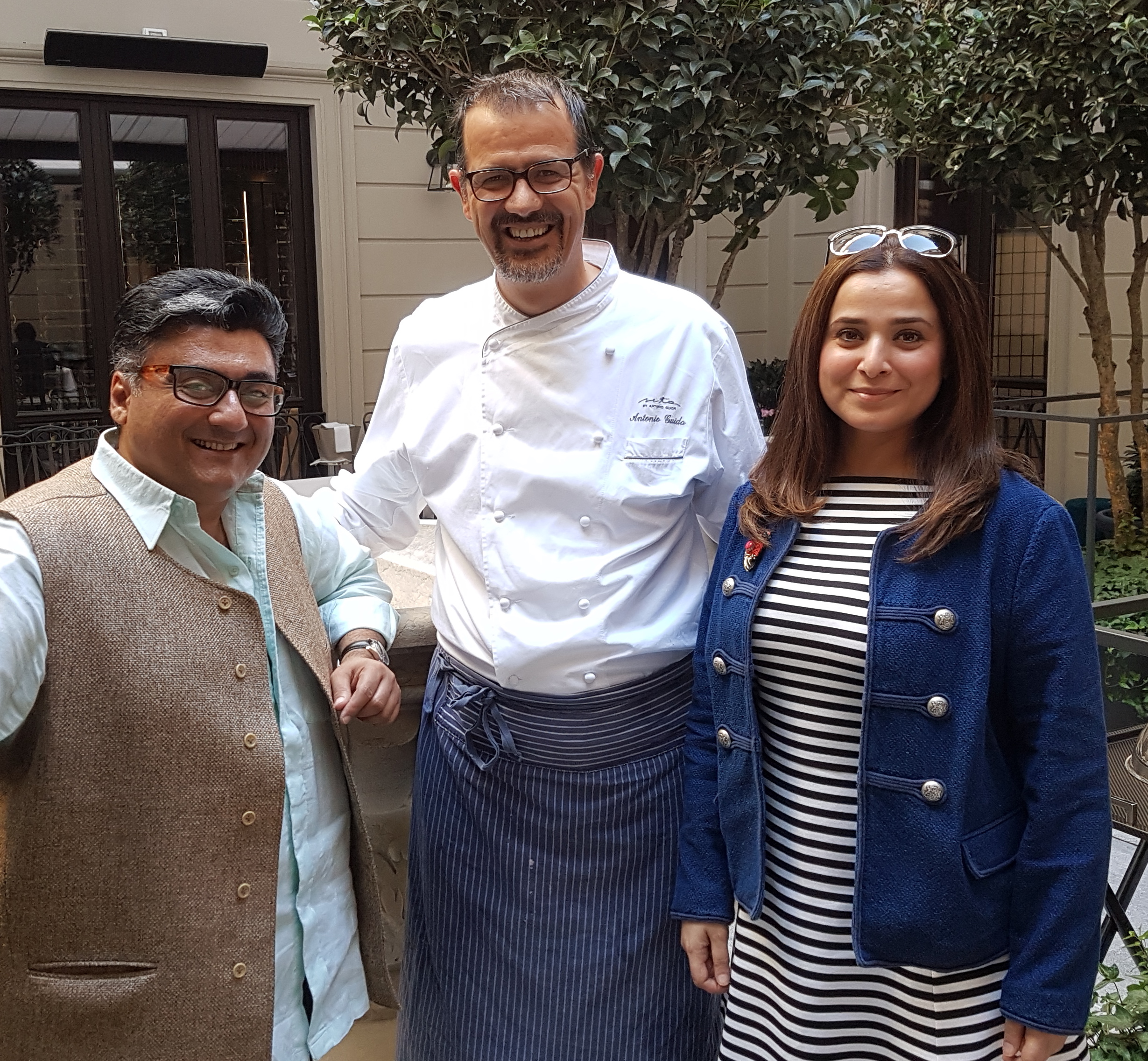 CHEF ANTONIO GUIDA OF SETA with Fahad & Simone